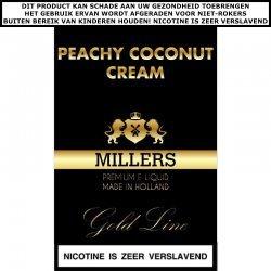 Millers e-liquid Peachy Coconut Dream