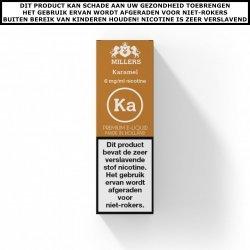 Millers e-liquid Caramel