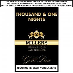 Millers e-liquid Thousand and one nights