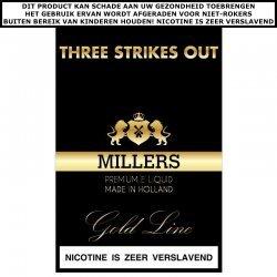Millers e-liquid Three strikes out