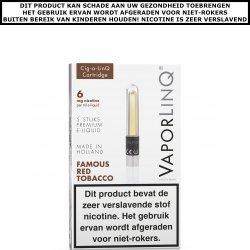 VaporLinQ Cig-a-LinQ Cartridge Famous Red Tobacco 0mg
