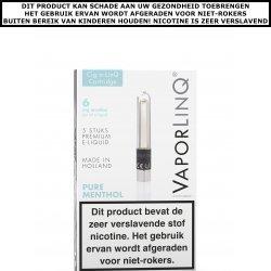 VaporLinQ Cig-a-LinQ Cartridge Pure Menthol 0mg