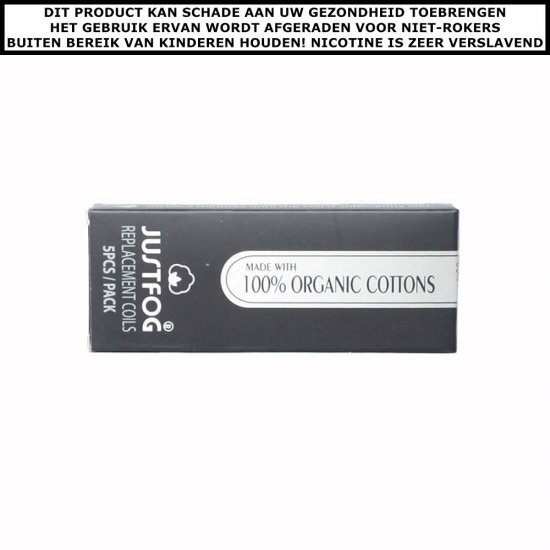 Justfog organic cotton coil for 14 and 16 series (5st)