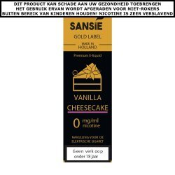 Sansie Gold label E-liquid Vanilla Cheesecake