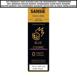 Sansie Gold label E-liquid Blue Cosmic