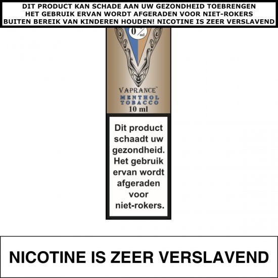 Vaprance VIP Label Menthol Tobacco 10mL