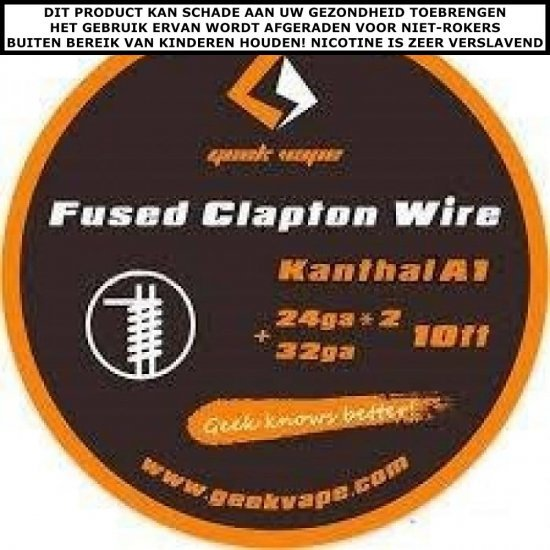 10FT GEEKVAPE KANTHAL A1 FUSED CLAPTON WIRE, 24GAX2+32GA
