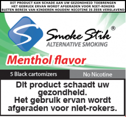 SmokeStik Cartomizer Menthol No-nic (zwart) 0 mg/ml