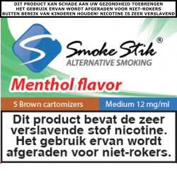 SmokeStik Cartomizer Menthol Medium (brown) 12 mg/ml